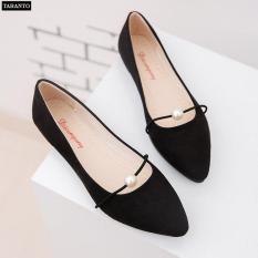Giày búp bê nữ đính ngọc xinh xắn nhiều màu – thời trang TARANTO TRT-GBBNU-02