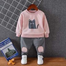 bộ đồ bé trai/ gái mèo vá gối(kèm ảnh shop chụp)