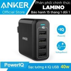 Sạc ANKER PowerPort 4 cổng 40w có PowerIQ (Đen) – Hãng Phân Phối Chính Thức