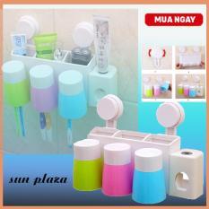 Dụng cụ nhả kem đánh răng kèm 3 cốc tự động – ( Ngoài ra shop còn có Vòi nước ấu trùng, combo 3 khăn tắm ,…)