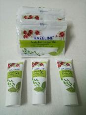 Combo 1 dây kem dưởng trắng da (12 gói)+ 3 tuýt rửa mặtx (15g) hazelin lựu đõ + tặng 1 túi đựng mỹ phẩm