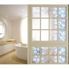 3m giấy dán kiếng khổ 45cm họa tiết Hoa lài xanh dương