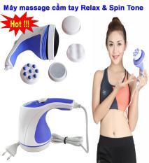Mát xa bụng giảm mỡ, Máy massage cầm tay Relax & Spin Tone, Loại tốt, giá rẻ, giải pháp hoàn hảo thư giãn, giảm stress, Bảo hành 1 đổi 1 bởi TLStore
