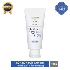 Sữa rửa mặt tẩy tế bào chết dưỡng trắng sáng ẩm mịn đều màu da Senka Perfect White Clay 120g