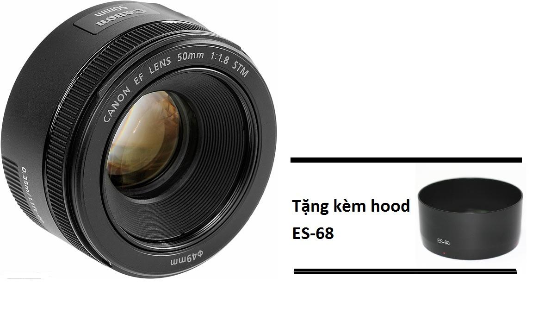 Lens Canon 50mm f/1.8 STM – Tặng kèm hood ES-68