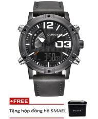 Đồng hồ điện tử thể thao nam CURDDEN dây da PKHRCD001