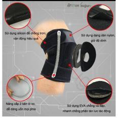 Băng dán đầu gối có 4 lò xo hỗ trợ vận động, 1 miếng silicon bảo vệ gối