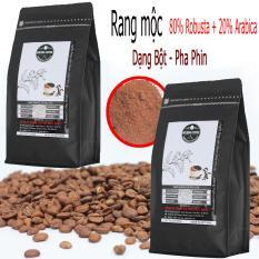 1kg cà phê Gu Đậm – Rang mộc hoàn toàn – 2 gói zipper 500g – Thành phần 80% Robusta và 20% Arabica – ROCKING COFFEE