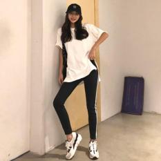 Sét Bộ Áo Thun New York Phối Chữ Sau Lưng Kết Hợp Với Quần Legging Sọc Cá Tính Trẻ Trung Đường Phố NTD Fashion WM QA 800041