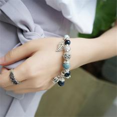 JK Silver – Vòng Charm nữ JK Silver phối đá đem lại may mắn sức khỏe – kiểu dáng trendy trẻ trung-J041826