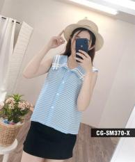 Áo Cotton Lụa Họa Tiết Caro Hàn Quốc