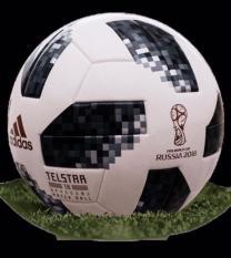 Quả bóng đá World Cup 2018 TELSTAR số 5 (Màu Trắng Đen,Đỏ)- Tặng kim bơm bóng