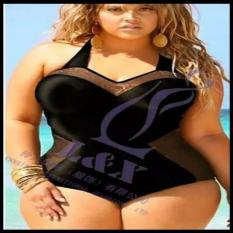 Bikini bigsize một mảnh đen phối lưới 3xl big size