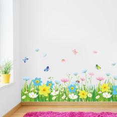 Decal dán chân tường hàng rào hoa XL7186-Decalchantuong