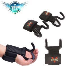 Quấn cổ tay tập gym có móc sắt hỗ trợ nâng tạ