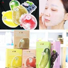 Bộ 10 miếng mặt nạ trắng da hoa quả Rainbow Fruit Mask Pack Hàn Quốc 23ml