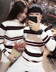 Áo len cặp nam nữ xọc ngang cao cấp 1cai – Krixi Fashion