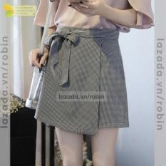 Váy Caro Vạt Xéo Nữ
