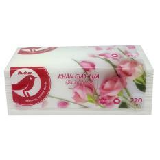 Khăn giấy lụa Auchan túi 220 tờ