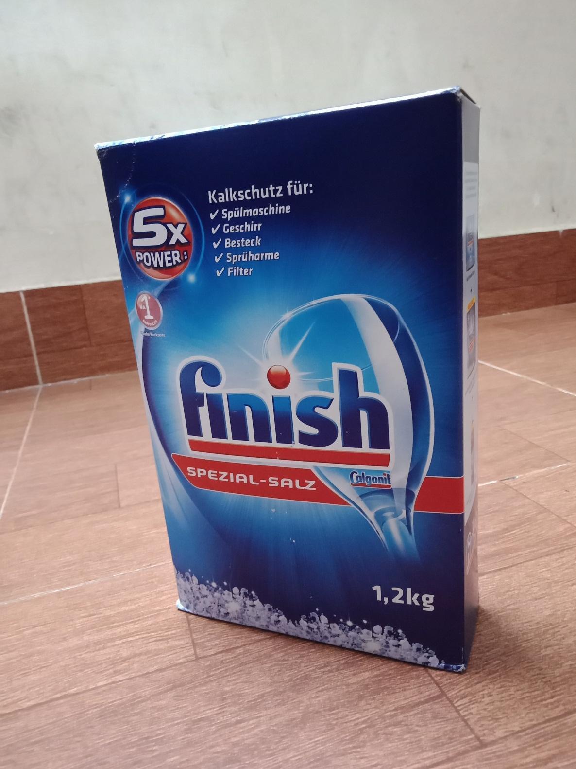 muối rửa chén bát finish 1,2kg dùng cho máy rửa bát (viên rửa bát alio,bột rửa chén somat,muối làm mềm...