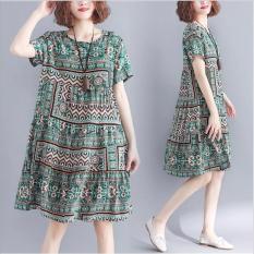 [GIÁ SỐC] – Váy Đầm suông hoạ tiết retro cực xinh