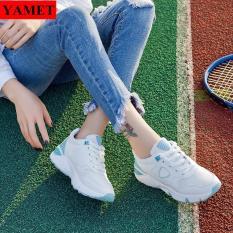 Giày Sneaker Thể Thao Nữ Mẫu Mới Siêu Hot YAMET SNN35529WS Trắng Phối Xanh