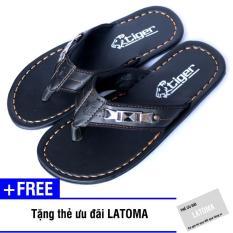 [Có Video Quay Thật] Dép xỏ ngón nam cao su thời trang Latoma TA1241(Nâu sậm)+ Tặng kèm thẻ ưu đãi Latoma