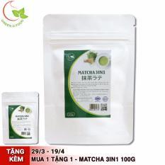 Bột trà xanh 3in1 (trà xanh sữa) – GreenD Food – 100g