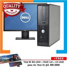 Combo Máy tính đồng bộ Dell Optiplex 755 SFF + Màn hình Dell 19.5 Inch Nguyên Bản, Chạy CPU Core 2 Duo, Ram 8GB, HDD 1TB + Bộ Quà Tặng