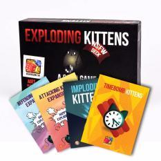 Set Boardgame mèo nổ đen + 04 bản mở rộng