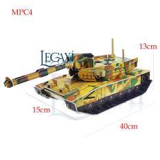 Bộ Lắp Ráp Mô Hình Giấy 3D Xe Tăng Bằng Giấy Cứng Legaxi MPC4