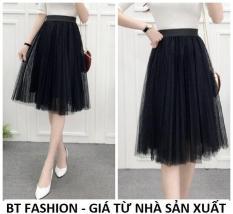 Chân Váy Xòe Dài Duyên Dáng Thời Trang Hàn Quốc – BT Fashion (VA01 – Vải Lưới)