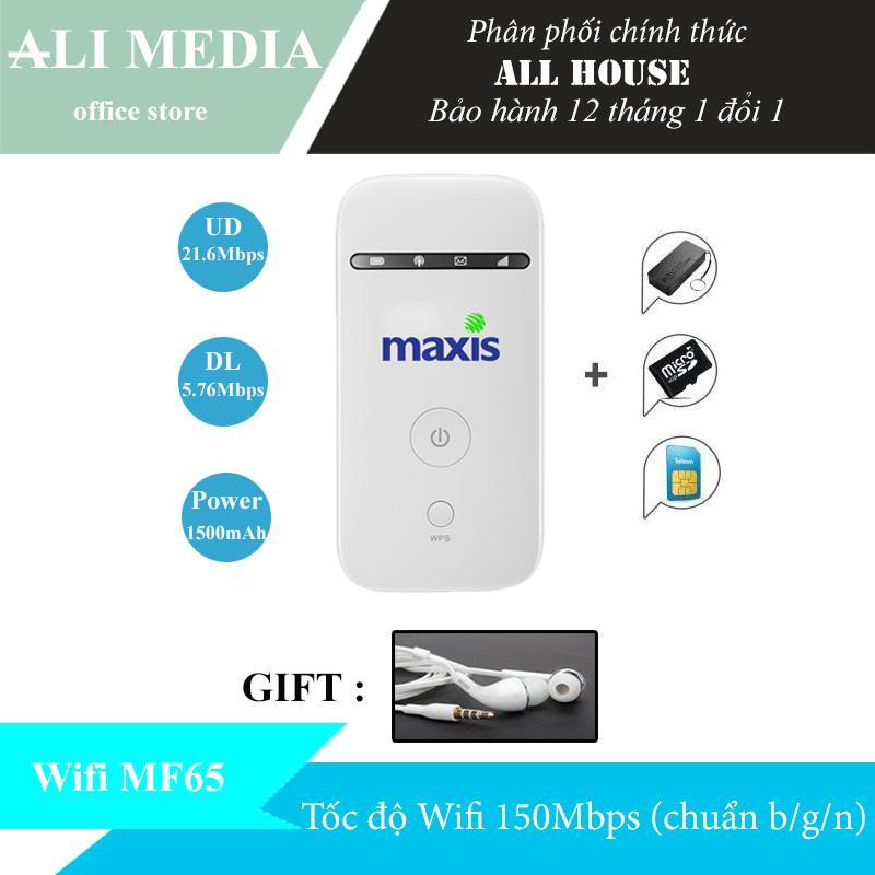 Mua Bộ phát wifi từ sim 3G/4G MF65 phiên bản MaXis – Tặng kèm combo ( Tai nghe ) siêu khủng ở đâu tốt?