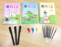 Bộ 3 vở tập tô tập viết tự xóa kèm 3 bút cho bé (Mẫu ngẫu nhiên)