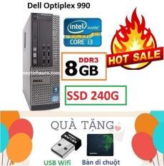 Thùng Đồng Bộ Dell Optiplex 990 (Core i3 2100 / 8G / SSD 240G ), Tặng USB Wifi , Bàn di chuột , Bảo hành 02 năm – Hàng Nhập Khẩu