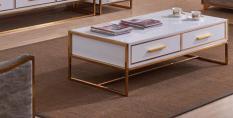 Bàn sofa khung inox mạ vàng Mina Furniture MN-A8197 (1300*700*420)