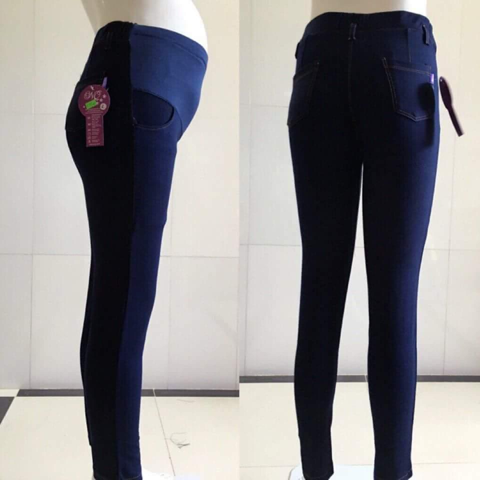 Quần legging bầu giả Jean( phiên bản bổ sung màu, cỡ cho các mẹ)