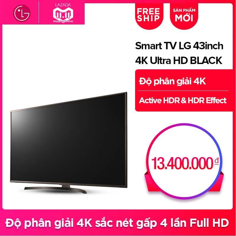 Smart TV UHD LG 43inch 4K Ultra HD - Model 43UK6340PTF (Đen) - Hãng phân phối chính thức