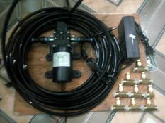 Combo bơm phun sương, 15met ống, 9 béc phun sương lắp sẵn