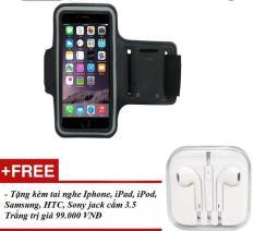 Đai đeo tay Armband tập thể thao cho điện thoại iPhone Samsung Lumia 5.5 inch – Tặng kèm tai nghe cho iPhone