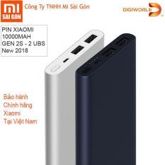 Pin sạc dự phòng Xiaomi 10000 mAh gen 2s 2018 Đen – Digiworld phân phối chính thức