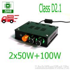 Bộ khuếch đại classD 2.1 2x50W + 100W TPA3116D2 V2 (Có vỏ)