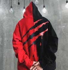 Hoodie Nỉ phối 2 màu in hình cực chất hoodie nam nữ mẫu mới TP