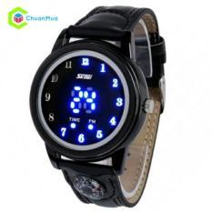 Đồng hồ Nữ Skmei 0921 Led la bàn dây da chống nước DHA277