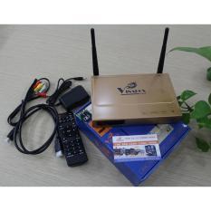 Cục kết nối wifi cho tivi, Thiết bị xem tivi qua mạng, Android Tv box siêu thông minh Vinabox X2 Ram 1G Rom 8G nhỏ gọn giá rẻ – Bảo hành uy tín bởi Click – Buy