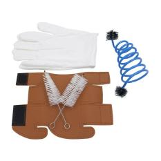 OBBB 5 in 1 Trumpet Accessory Gloves Cleaning Brush Kit Protective Cover Case Synthetic Leather Care Cleaning Parts