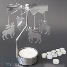 Chân Đế Nến Quay Tealight Eden Go Round Candle Legaxi Tặng 10 Nến