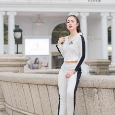 Set quần áo thể thao trắng siêu sành điệu