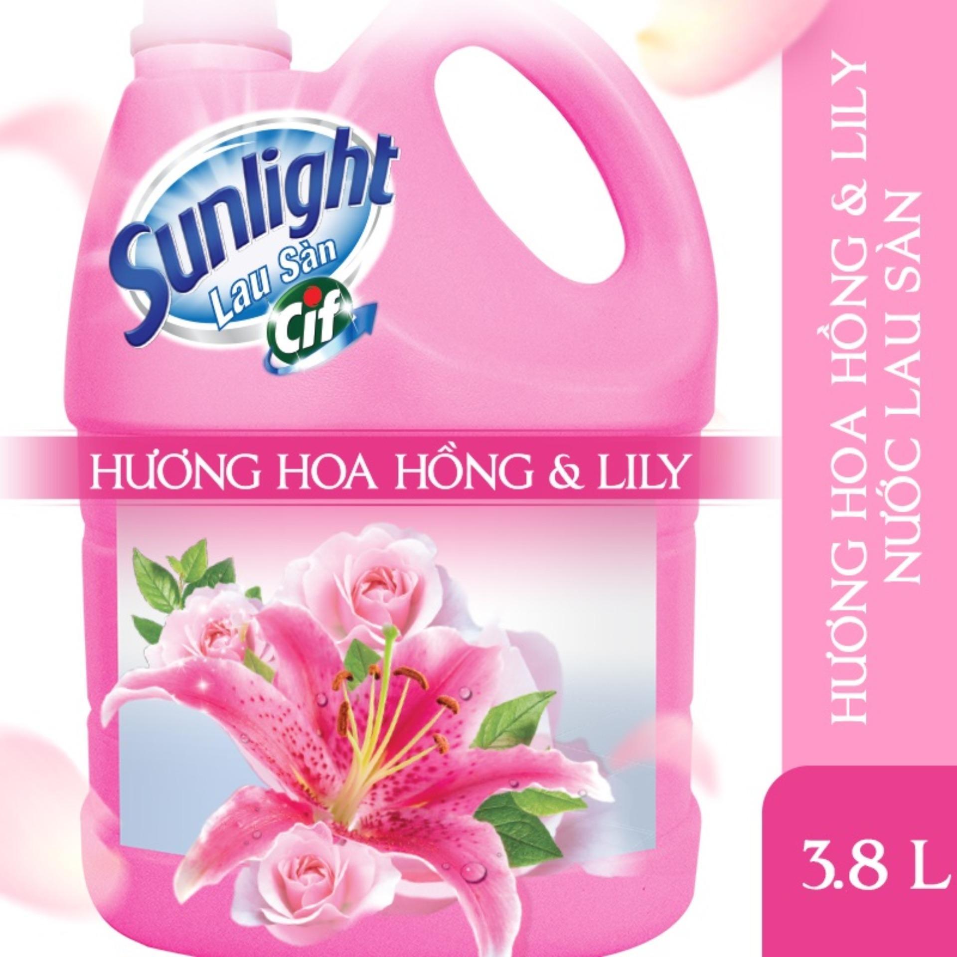 Sunlight Lau Sàn HƯƠNG HOA HỒNG & LILY MỚI Can 3.8kg