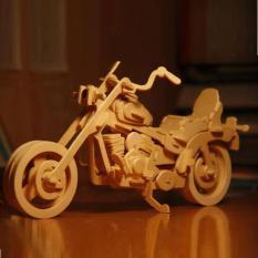 Đồ chơi lắp ráp gỗ 3D Mô hình Motocycle HD1